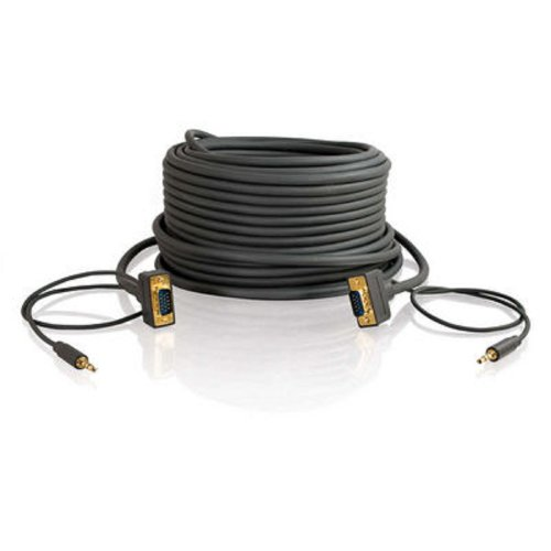 41dpiPwhXGL - C2G/Cables to Go 28256 Flexima VGA + 3.5mm A/V Cable M/M - In -Wall CL3-Rated (100 Feet/30.48 Meters, Black)