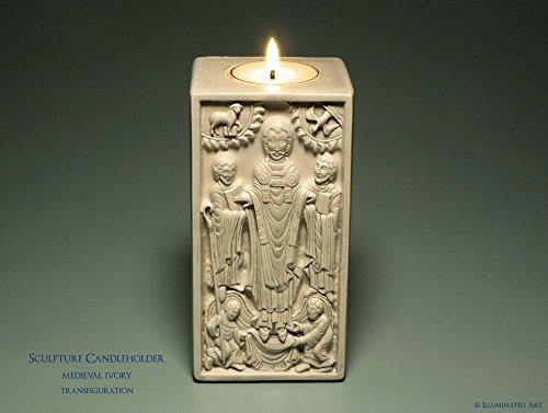 The Transfiguration   Medieval Sculpture Candle Holder Kit   Christian Gift