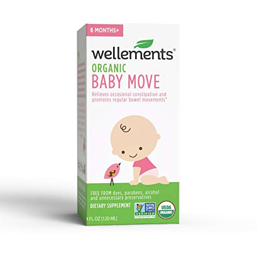 Wellements Organic Baby Move, 4 Fl Oz, Relieves Occasional Constipation, Free From Dyes, Parabens, Preservatives (Best Way To Ease Constipation)