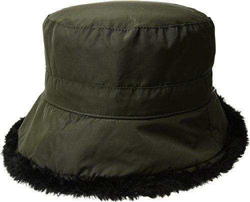 Faux Fur Cloche - SCALA Women's Packable Cloche w/Faux Fur Olive One Size