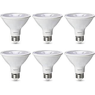 AmazonBasics Commercial Grade 25,000 Hour LED Light Bulb | 75-Watt Equivalent, PAR30S, Cool White, Dimmable, 6-Pack