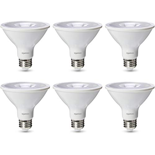 AmazonBasics 75 Watt 25,000 Hours Dimmable 450 Lumens LED Light Bulb - Pack of 6, Soft White