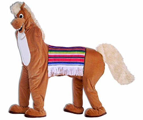 [Ponce Two Person Horse Costume 2 Man Funny Dress Outfit Couples] (2 Person Halloween Costume)