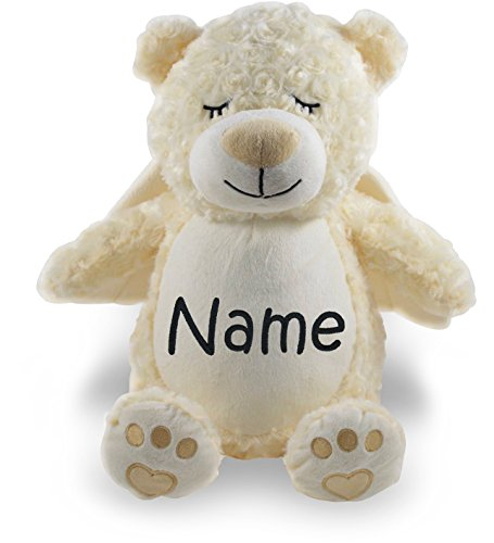 Personalized Stuffed Angel Bear with Embroidered (Personalized Angel Bear)