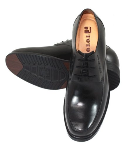 TOTO - F2703 - 3.8 Inches Taller - Height Increasing Elevator Shoes (Black Dress Shoes) Np2yN