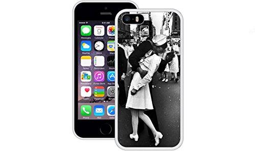 Seemann Krankenschwester Kuss | Handgefertigt | iPhone 5 5s SE | Weiß TPU Hülle