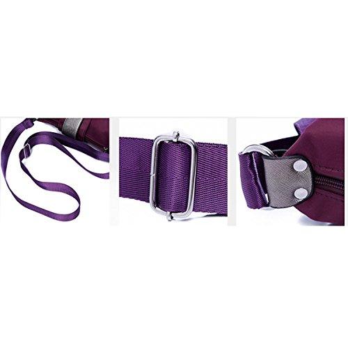 Señoras El Nylon Ocio Impermeables Todo-fósforo La Moda La Luz El Bolso De Hombro Inclinado Bolsas Purple