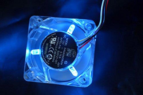 PartsCollection 4020 Transparent Blue LED DC 12V 40MM 4CM VGA Heatsink Cooler Cooling Fan