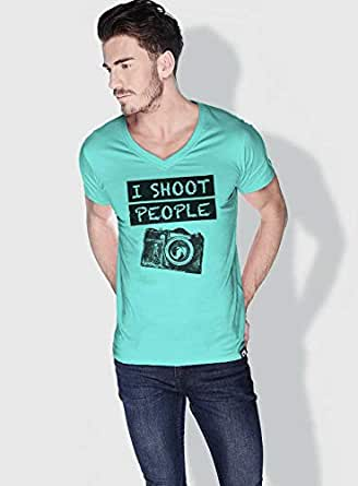 Creo I Shoot People Funny T-Shirts For Men - S, Green
