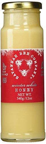 Savannah Bee Winter White Honey in 12 oz Tower Jar