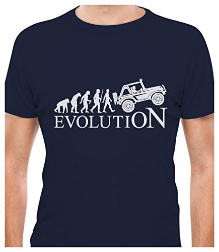 Evolution 4x4 - Gift for Off Road Lovers - Cool T-Shirt X-Large Navy