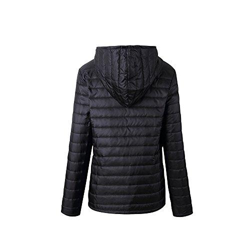 Veste Mince Coton Unie Lger Automne Jacket Chaud Glissire Shujin Couleur Femme Manteau Manches Hoodie Longues Fermeture Hiver Garder Noir Cardigan 5wSq6xIxRE