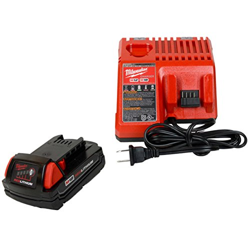 Milwaukee 48-59-1812 M12/M18 Battery charger & (1) 48-11-1815 18V 1.5Ah Battery