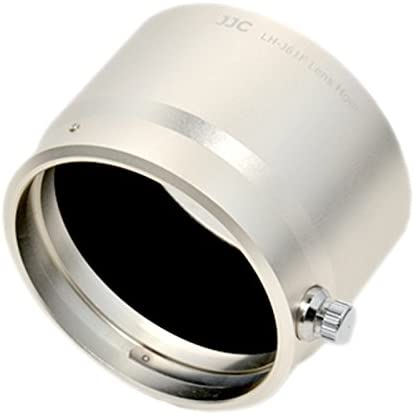 JJC LH-J61F Metal Lens Hood For Olympus M.Zuiko Digital ED 75mm F1.8 Lens Silver
