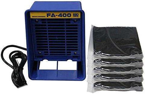 Naliovker Enchufe de la UE, FA-400 Soldador para Soldador Purificador de Humo ESD Instrumento para Fumar con 5 Esponjas de Filtro de CarbóN Activado