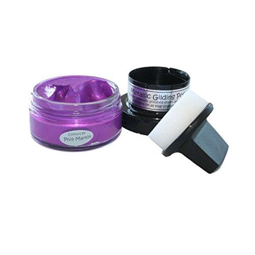 Cosmic Shimmer CSMGP30 CSMGPPARADISE Metallic Gilding Polish, Purple Paradise