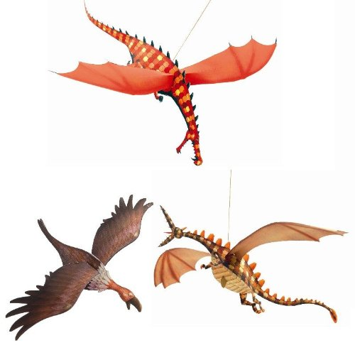 Djeco Hanging Paper Decor, Merciless (Dragon Decorations)