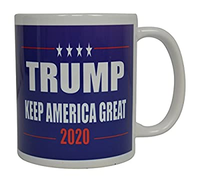 Donald Trump Coffee Mug Keep America Great Trump 2020 Novelty Cup President of The United States MAGA (Blue)