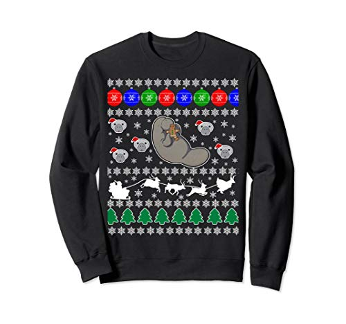 Manatee Sea Cow Ugly Christmas Sweater Xmas Party Fun Jumper -