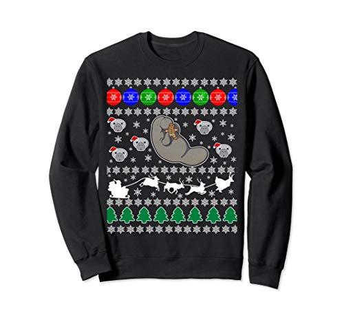 (Manatee Sea Cow Ugly Christmas Sweater Xmas Party Fun)