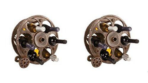 Gears and Wheels Bottle Rack (2pcs)