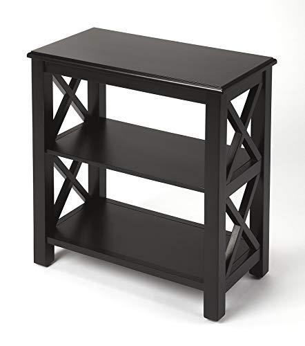 Butler Black Licorice Black Rectangular Poplar Hardwood Solids, MDF, Maple Veneer Vance Black Licorice Bookcase
