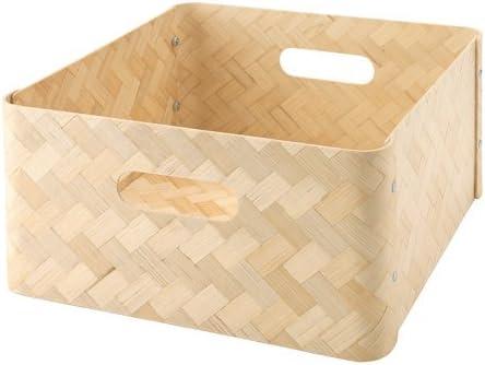 Ikea bullig Caja de bambú; apta para estanterías de Kallax; (32 x 35 x 16 cm): Amazon.es: Hogar