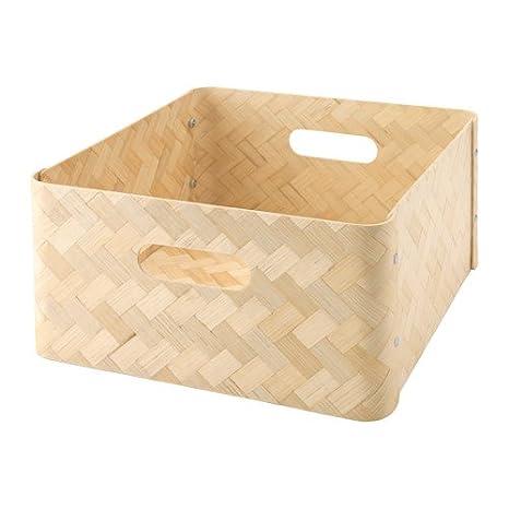 Ikea bullig Caja de bambú; apta para estanterías de Kallax; (32 x 35