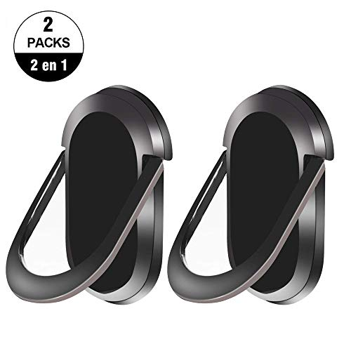 2 Unidad Anillo Soporte de Celular, 360 Grados Phone Ring Holder Compatible con para iPhone X/ 8, Samsung S9/ S8/ Note8,...