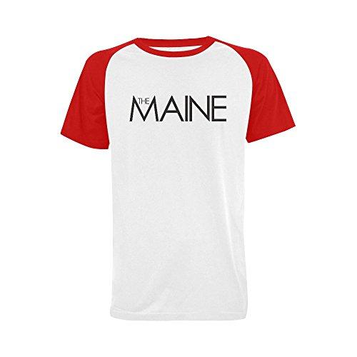 Wihuae Men's The Maine Logo Short Sleeve Raglan T-shirt (USA Size) S