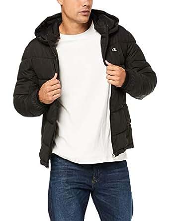 Champion Men's Puffer Jacket, Black, Small