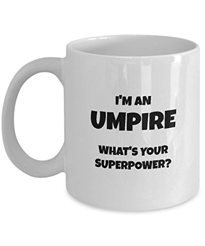 Umpires Tennis Chair (Umpire Mug - I'm An Umpire What's Your Superpower? - 11oz Ceramic White Novelty Coffee Mug)