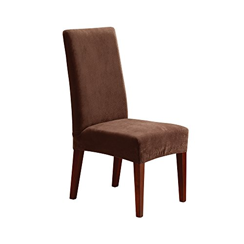 SureFit Stretch Pique - Shorty Dining Room Chair Slipcover  - Chocolate (SF36847) (Kohls Covers Chair)