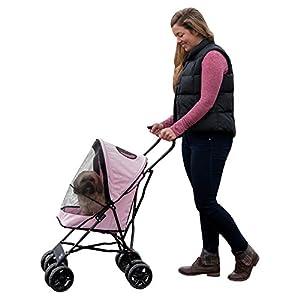 """Pet Gear Ultra Lite Travel Stroller, Compact, Large Wheels, Lightweight, 38"""" Tall 14"""