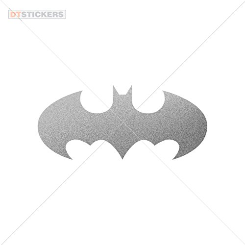 Bat Dark Knight Attack (Decal Halloween Batman Car window jet ski (3 X 1,32 In. ) Matte Metallic Silver)
