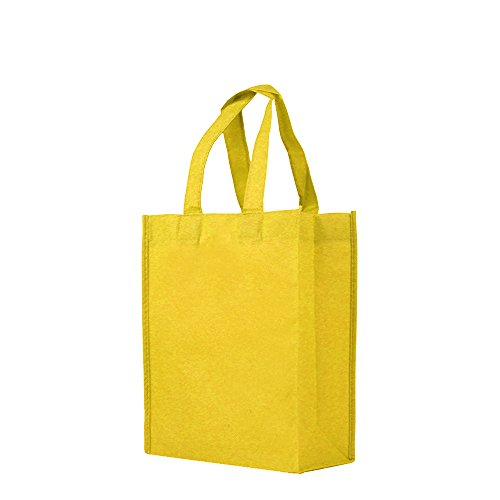 Reusable Gift / Party / Lunch Tote Bags - 25 Pack - Yellow