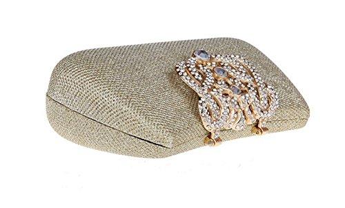 de bandoulière Portable style Femmes embrayage Flash robe sac sac cosmétique à multicolore mode à strass sac la FZHLY Gold soirée Cross tw1ZTfZq