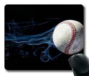 Rectangle mouse pad , Tennis Ball Smoke