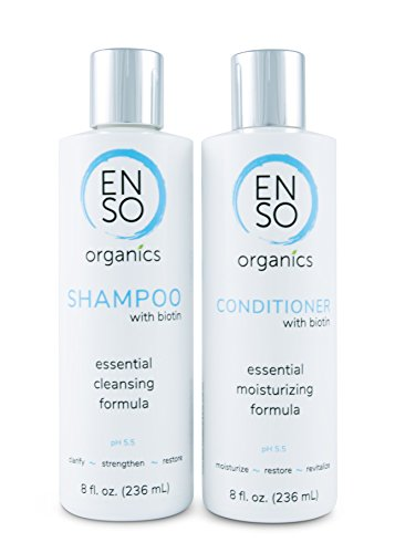 Shampoo and Conditioner with Biotin for Sensitive Skin – by ENSO Organics, made with Manuka Honey and Aloe Vera for Healthy Hair and Scalp. Made with the Best Organic and Natural Ingredients (8 oz)