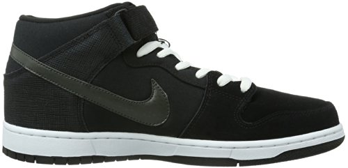 Nike Dunk Grey White Schwarz Shoes Black Black Pro Skateboard Mid Skateboard Mens Charred ffPrZ