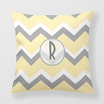 Lightinglife Decorative Throw Pillow Yellow Decorative Pillow Cover For Sofa Grey Gray Sofa Pillow 16 X 16 xdq
