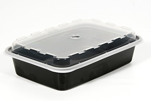 Containers Dome Lid (Set of 10 Plastic Container with Clear Plastic Dome Lid (Black))