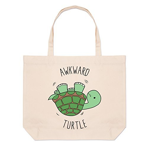 large awkward turtle awkward turtle tote bag beach fpqxtxu