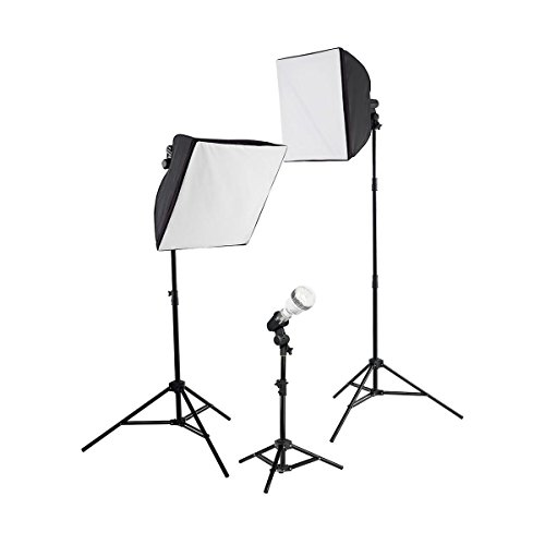 Photoflood Lighting Kit (Westcott uLite 3-Light Kit, Includes 2x uLite Collapsible Softbox, uLite Reflector, 3x Daylight LED Bulb with Tungsten Cover, 2x Tungsten Photoflood Bulb)