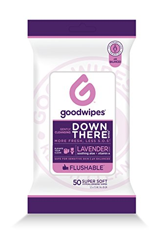 Feminine Wipes (GoodWipes Down there Wipes for Women, Feminine Wipes, 50 Piece)