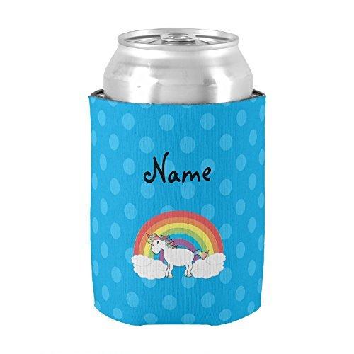 Personalizado Nombre unicornio azul lunares puede refrigerador aislado neopreno puede Koozie titulares de cerveza bebida Insulator boda Baby Shower novia ducha partido decoración PeteGray
