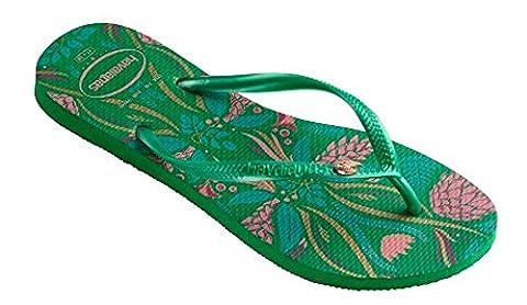 Havaianas Women's Slim Royal Sandal Flip Flop, Green 35 BR/6 W US (Green Flip Flops)