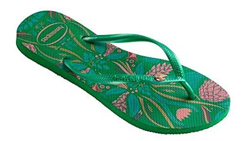 Havaianas Women's Slim Royal Sandal Flip Flop, Green 35 BR/6 W - For Havianas Men