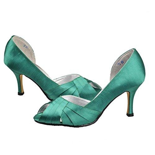 Green femme Sandales 7 vert Heel pour Minitoo 5cm AnqRBIZw