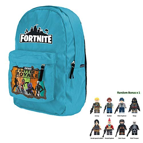 2019 Battle Royale School Bag Notebook Daily 15 inch Backpack (Teal)